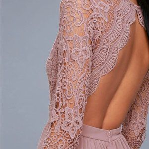 Lulu's Lavender Maxi dress Awaken my Love Medium